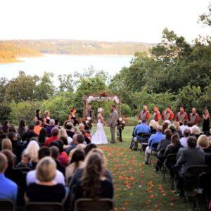 Fall Norfork Lake wedding