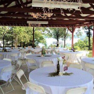 Wedding reception set-up option 2