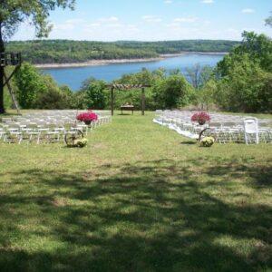 Spring lake wedding ceremony